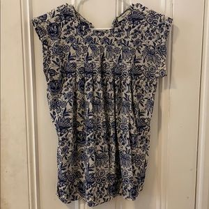 Madewell floral silk blouse